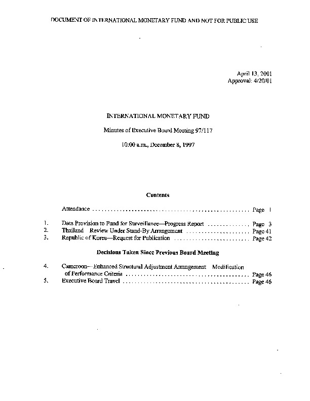 EBM 97.117 Republic of Korea-Request for Publication