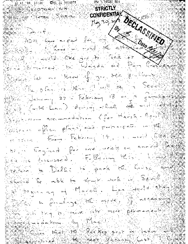 Letter to D.Goldsborough from Dosworth