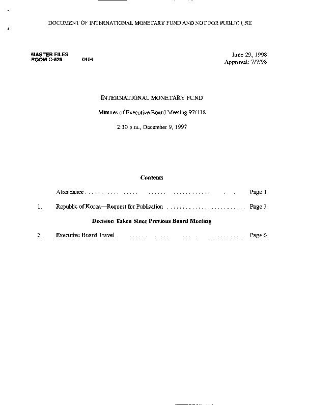 EBM 97.118 Republic of Korea-Request for Publication