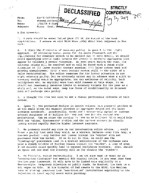 Korea draft brief