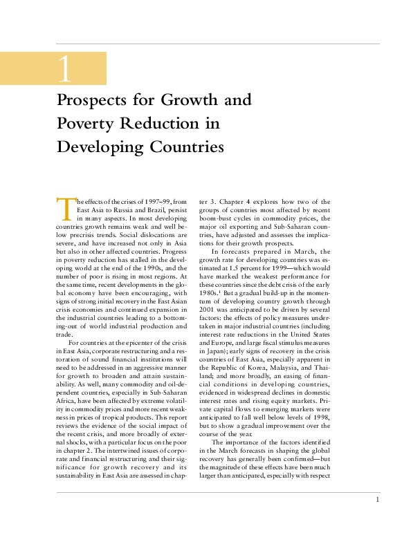Global Economic Prospects and the Developing Countries 2000 [Ch.1]
