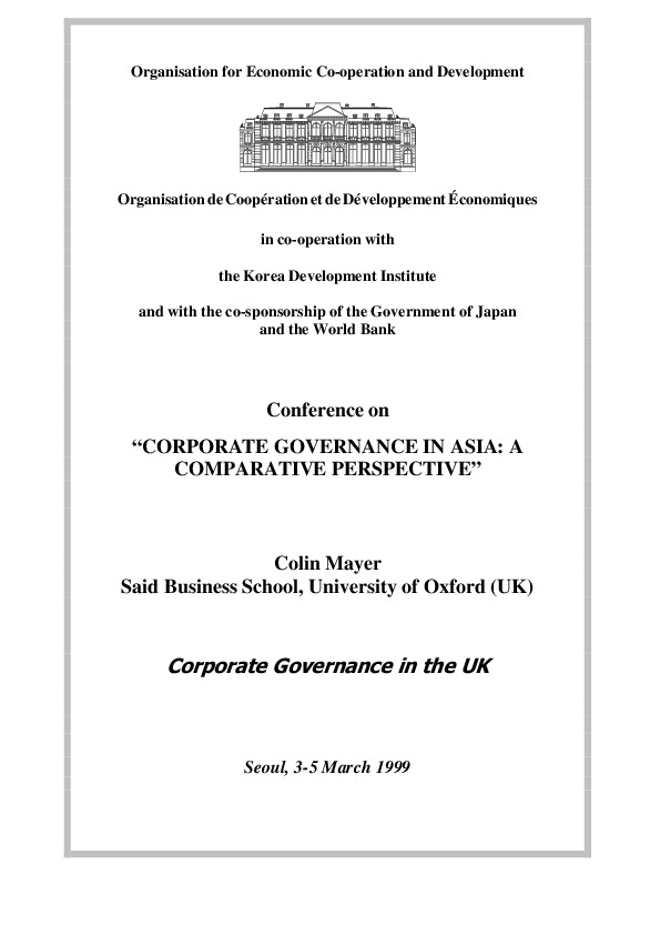 Mayer, Colin - Corporate Governance in UK