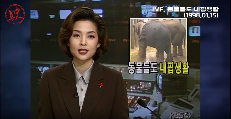 """[뉴본사] 동물원에 닥친 IMF 파고... """"열대과일 대신 국산 채소"""" 1998 01 15"""