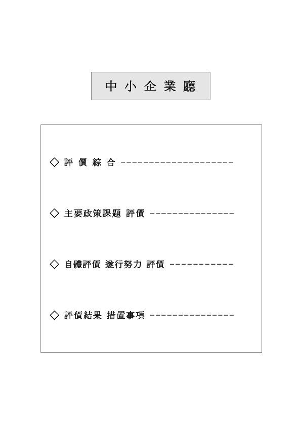 정부업무심사평가 보고회 2000.7.26 중소기업청