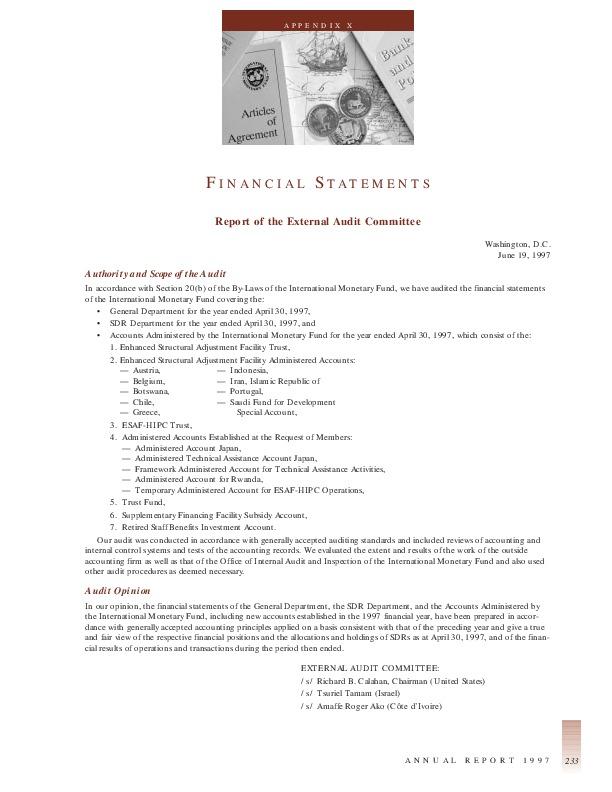 IMF Annual Report 1997-18