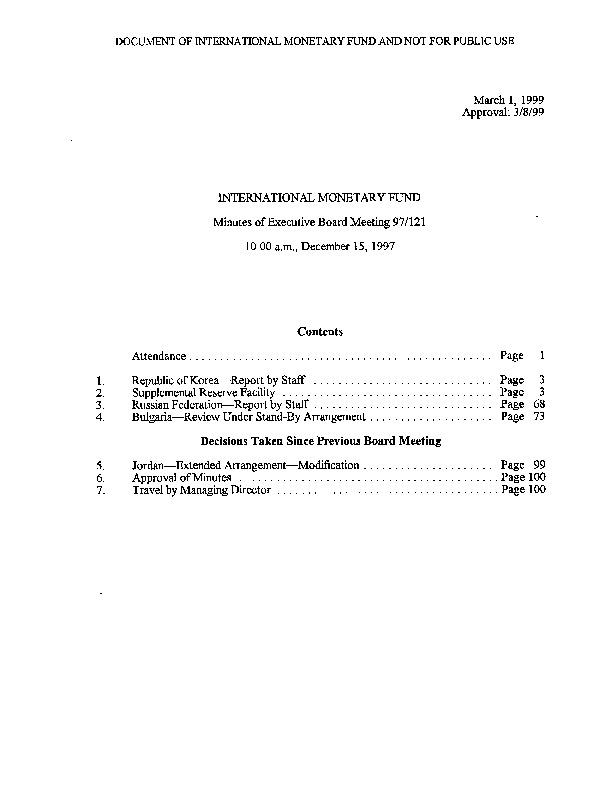 EBM 97.121 Republic of Korea-Report by Staff