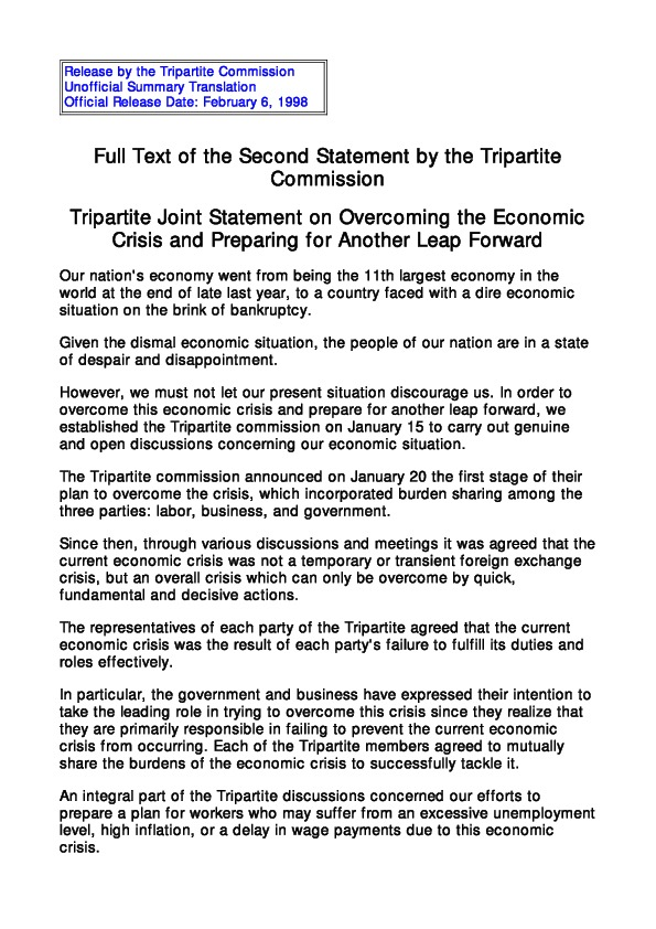 Tripartite Joint Statement 2 (98.2.6)