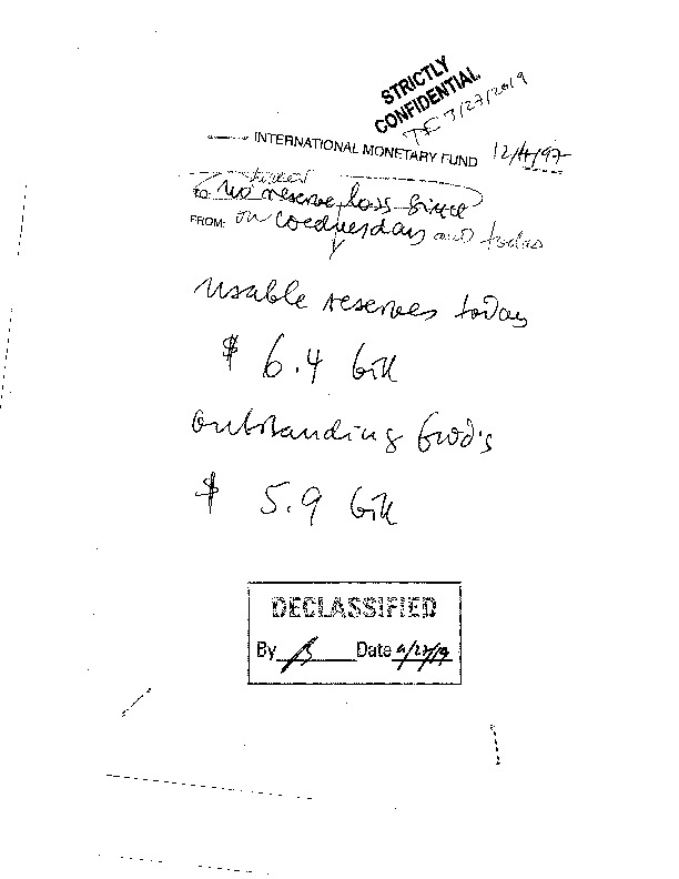 hand-written memo