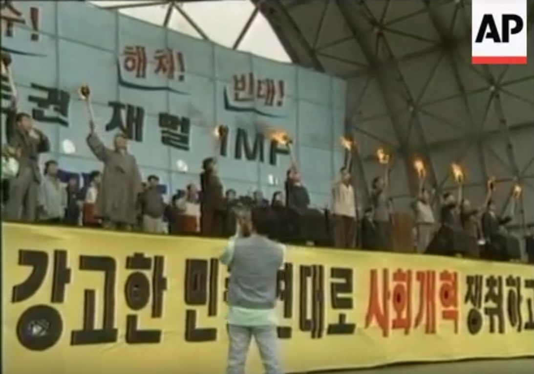 SOUTH KOREA: DEMONSTRATIONS OVER ECONOMIC CRISIS