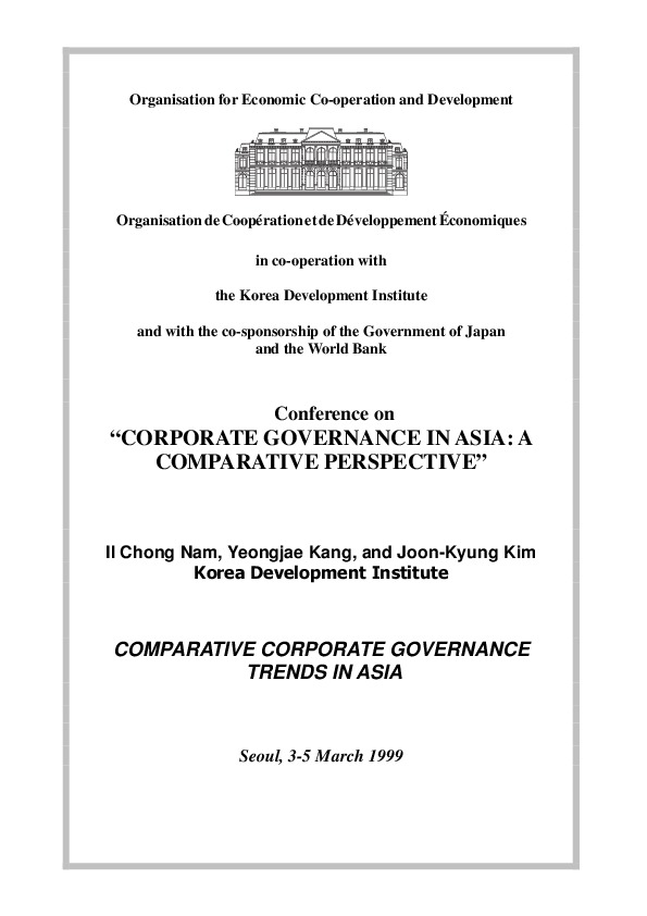 Nam, Il Chong et al - Comparative Corporate Governance Trends in Asia (KDI)