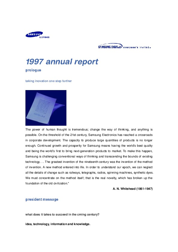 Samsung Electronics Annual Report 1997