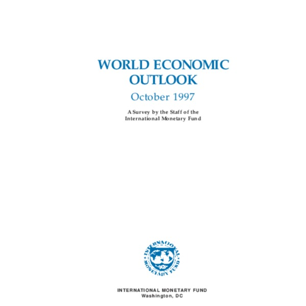 World Economic Outlook October 1997 -1