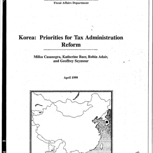 [책자] Korea : Priorities for Tax Administration Reform