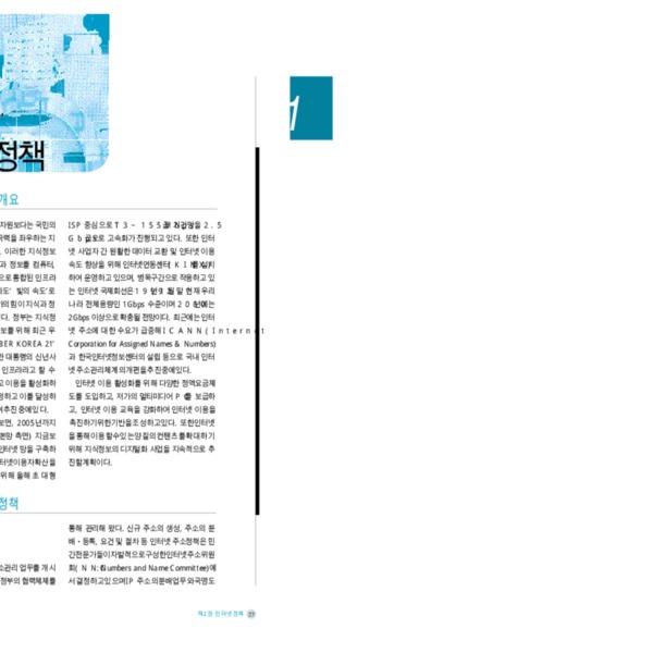 정보통신부 한국 인터넷 백서 2000 - 제1편 제2장 인터넷 정책
