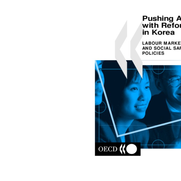 OECD - Pushing Ahead with Reform in Korea Labour Market and Social Safety-net Policies (2000)