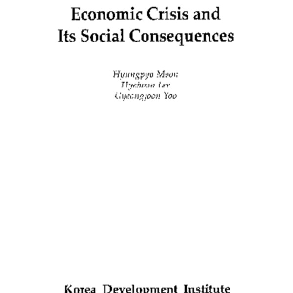 Economic Crisis and Its Social Consequences