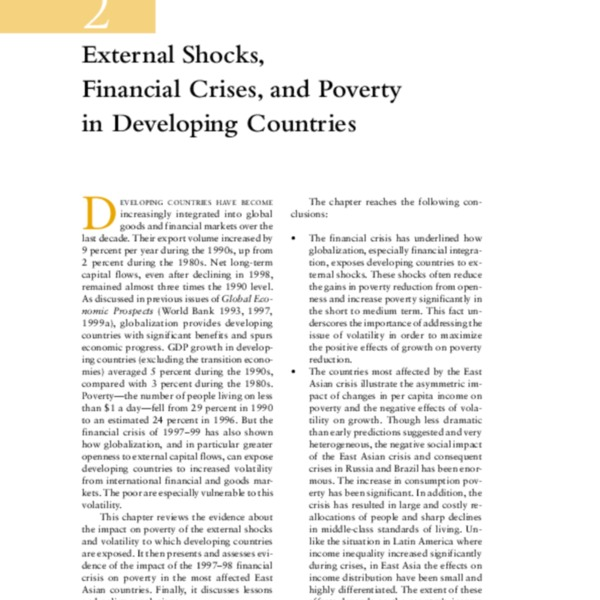 Global Economic Prospects and the Developing Countries 2000 [Ch.2]