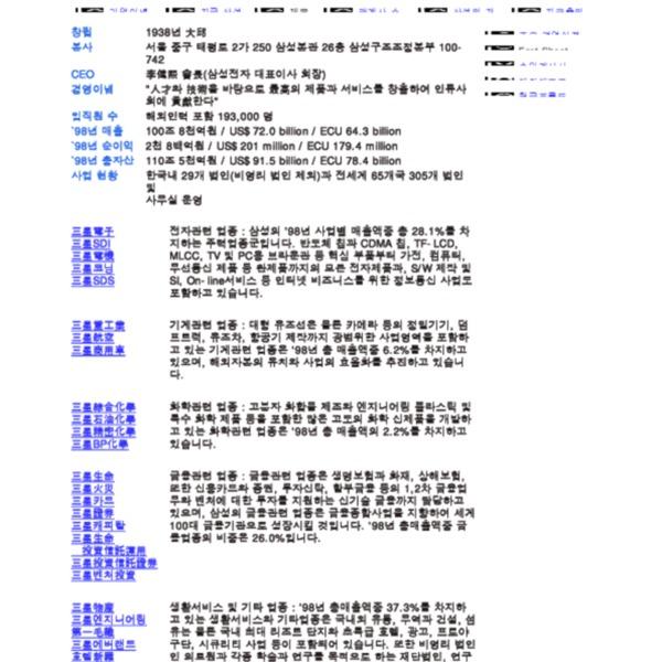 삼성 소개 - Fact Sheet