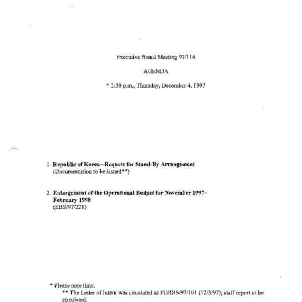 Executive Board Meeting 97/116
