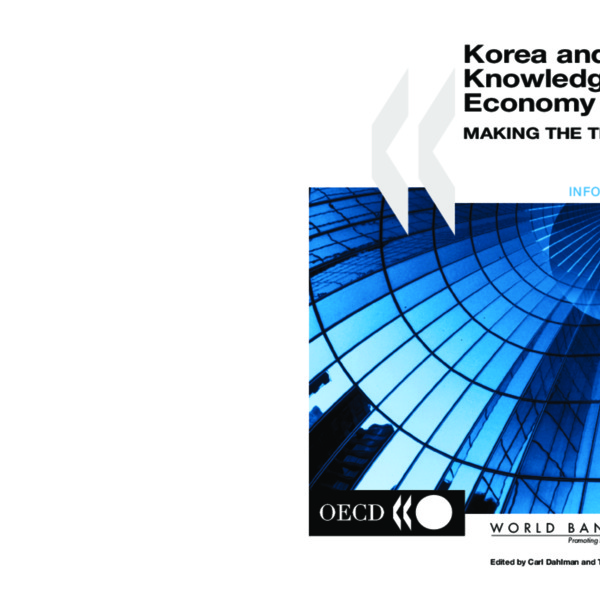 OECD - Korea and the Knowledge-based Economy Making the Transition (Jan 2001)