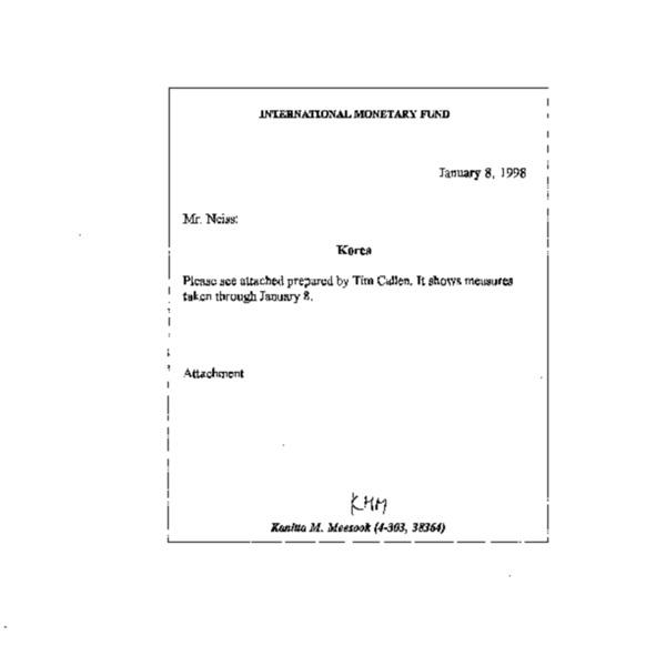 Korea: Measures Taken Under the Program, December 24, 1997