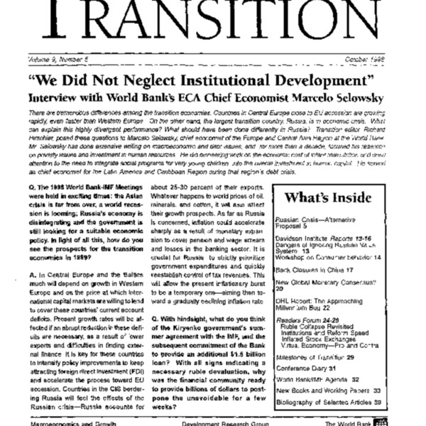 World Bank - Post-Washington Consensus (1998)