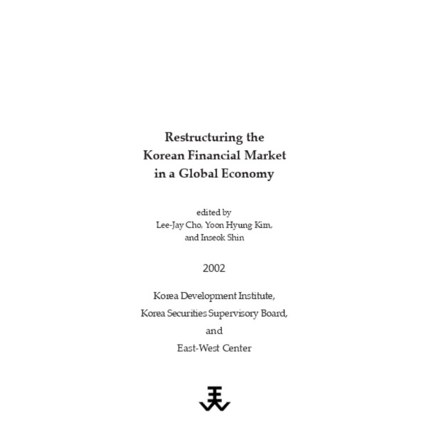 Cho - Restructuring the Korean Financial Markets [KDI 2002]
