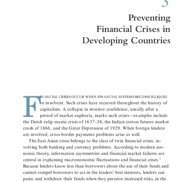 Global Economic Prospects for Developing Countries 1998-99 Beyond Financial Crisis [Ch.3]
