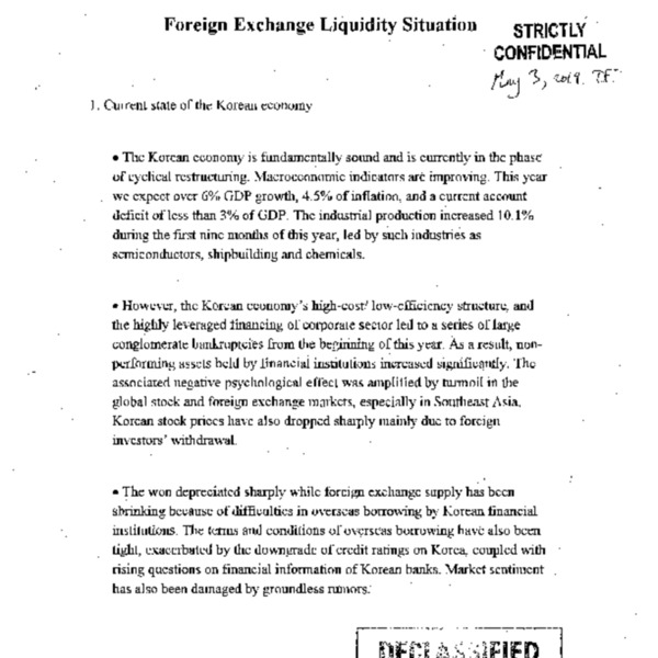 Foreign Exchange Liquidity Situation