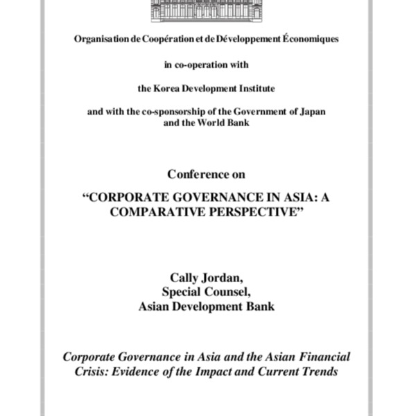 Jordan, Cally - Corporate Governance in Asia-A Comparative Perspective