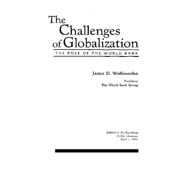 World Bank - The Challenge of Globalization and World Bank (2001)