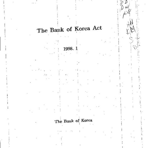 The Bank of Korea Act