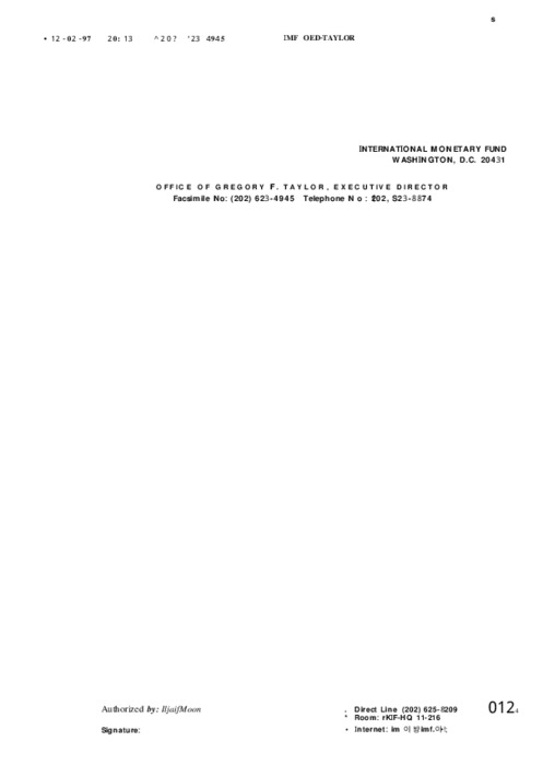 IMF 지원논의 진전상황 보고